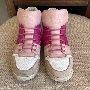 Girls Gucci high top running shoes